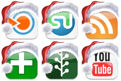 Christmas Social Bookmark Icons