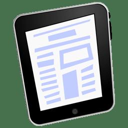 iPad text icon