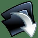 Folder down icon