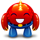 Red-monster-happy icon
