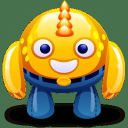 Yellow monster icon