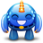 Blue monster happy icon