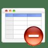 Table-remove icon