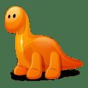 Dino orange icon
