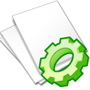 Documents white exec icon
