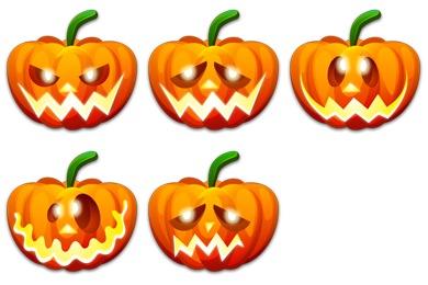 Halloween Emoticons Icons