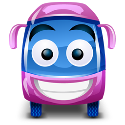 Bus grape icon