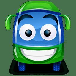 Bus green icon