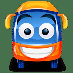 Bus orange icon