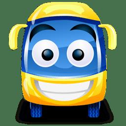 Bus yellow icon