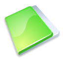 Folder close green icon