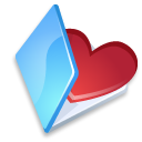 Folder favorits blue icon