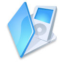 Folder-ipod-blue icon