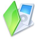 Folder ipod green icon