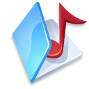 Folder music blue icon
