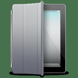 iPad Black gray cover icon