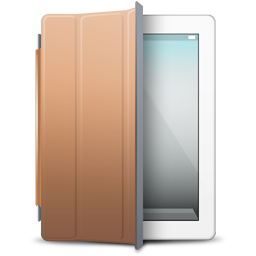 iPad White brown cover icon