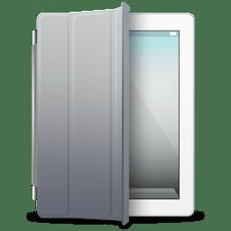iPad White gray cover icon