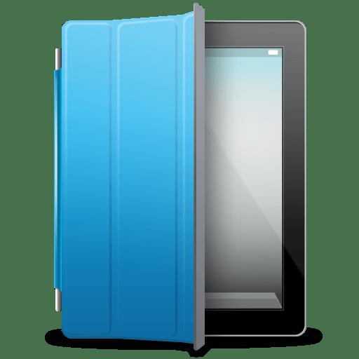 iPad Black blue cover icon