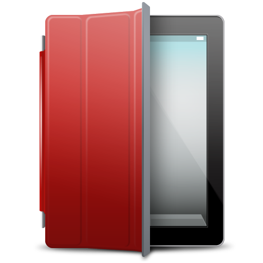 IPad-Black-red-cover icon