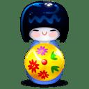 Kokeshi blue icon