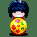 Kokeshi red icon