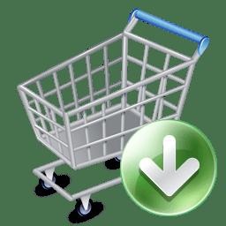 Shop cart down icon