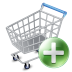 Shop-cart-add icon