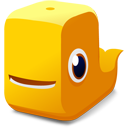 Orange whale icon