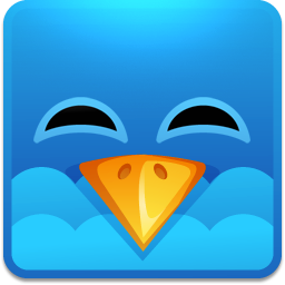 Twitter square happy icon