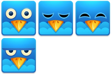 Twitter Square Icons