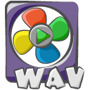 Filetype movie wav icon