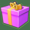 Giftbox purple icon