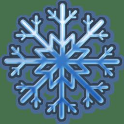 Blue snow icon