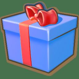 Giftbox blue icon