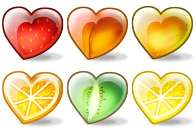 Fruity Hearts Icons
