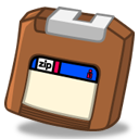 Zip brown icon