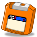Zip orange icon