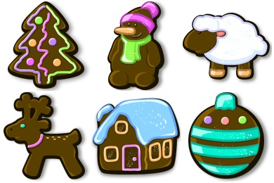 Xmas Gingerbread Icons