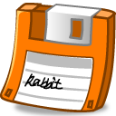 Floppy orange icon