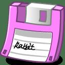 Floppy pink icon