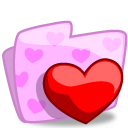 Folder Valentines icon