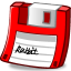 Floppy red icon