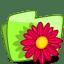 Folder Flower Red icon