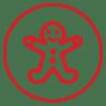 Gingerbread-man icon