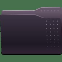 Places folder black icon