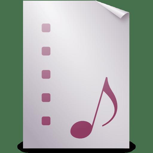 Mimetypes playlist icon