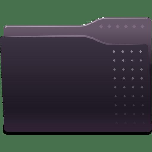 Places-folder-black icon