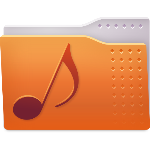 Places folder music icon