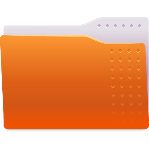 Places-folder-orange icon
